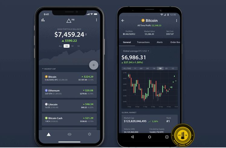 Bitcoin-Preis-App-Delta