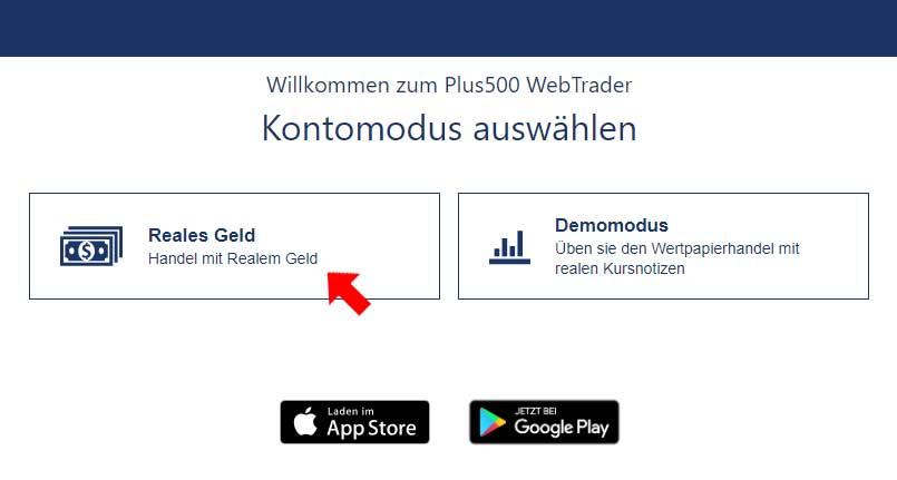 Plus500-Realgeldkonto