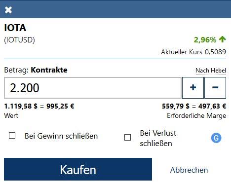 IOTA Coins mit PayPal kaufen