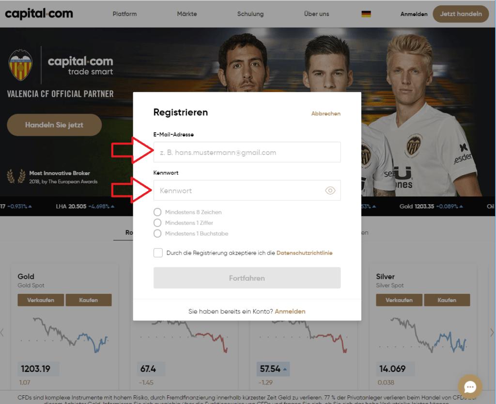Capital.com-kostenlose-Registrierung