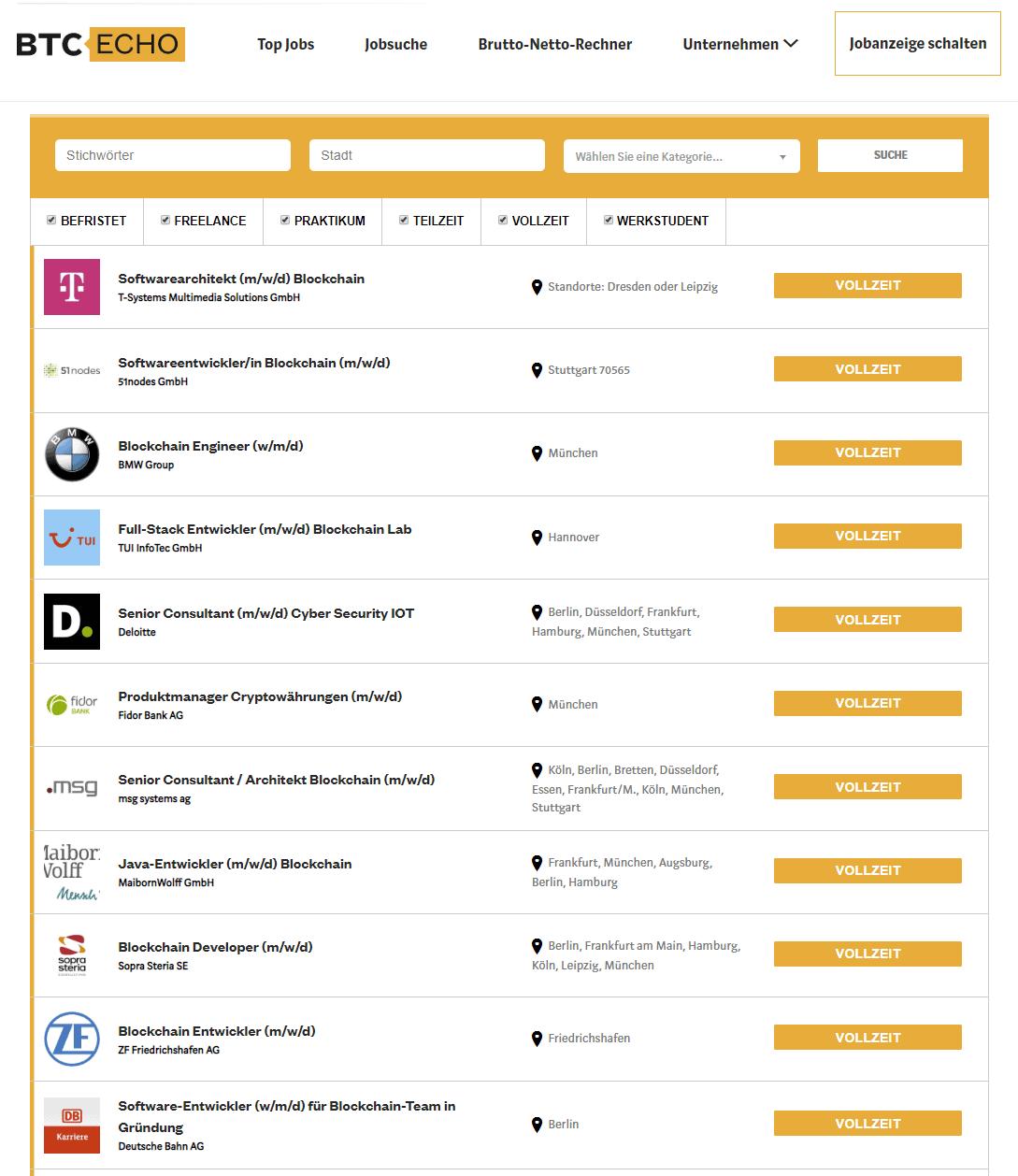 btc echo job bitcoin verdienen