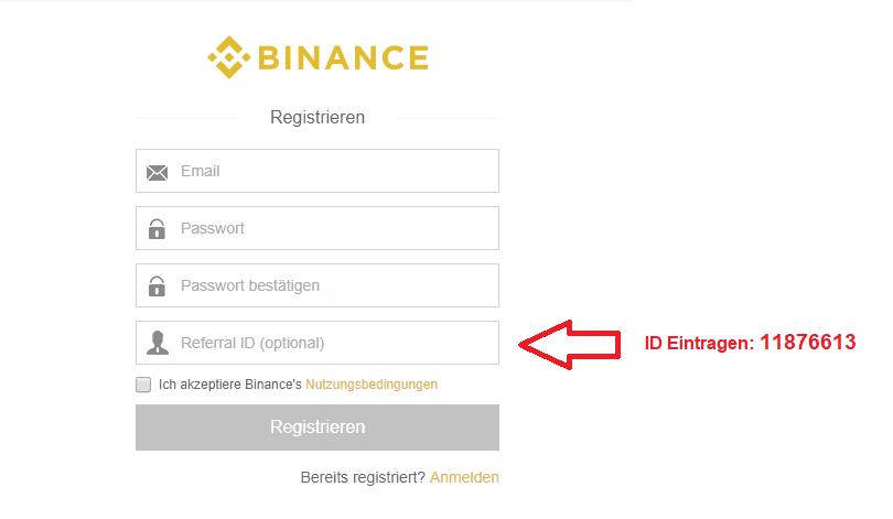 Binance Bonus Code eingeben