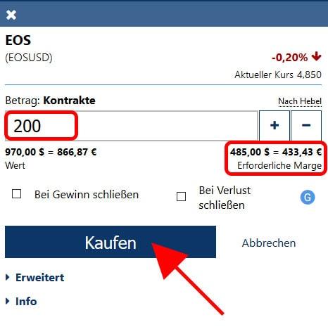 EOS mit Hebel kaufen