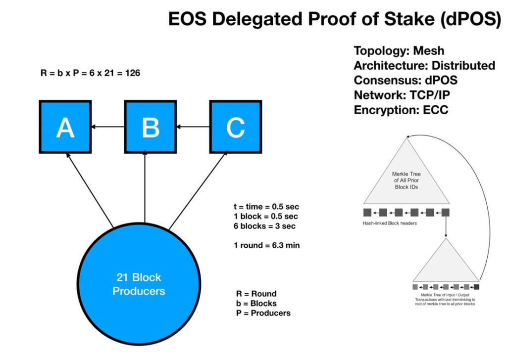 EOS Delegated PoS Governance Modell