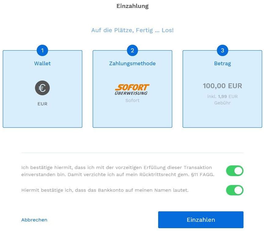 BitPanda Einzahlung