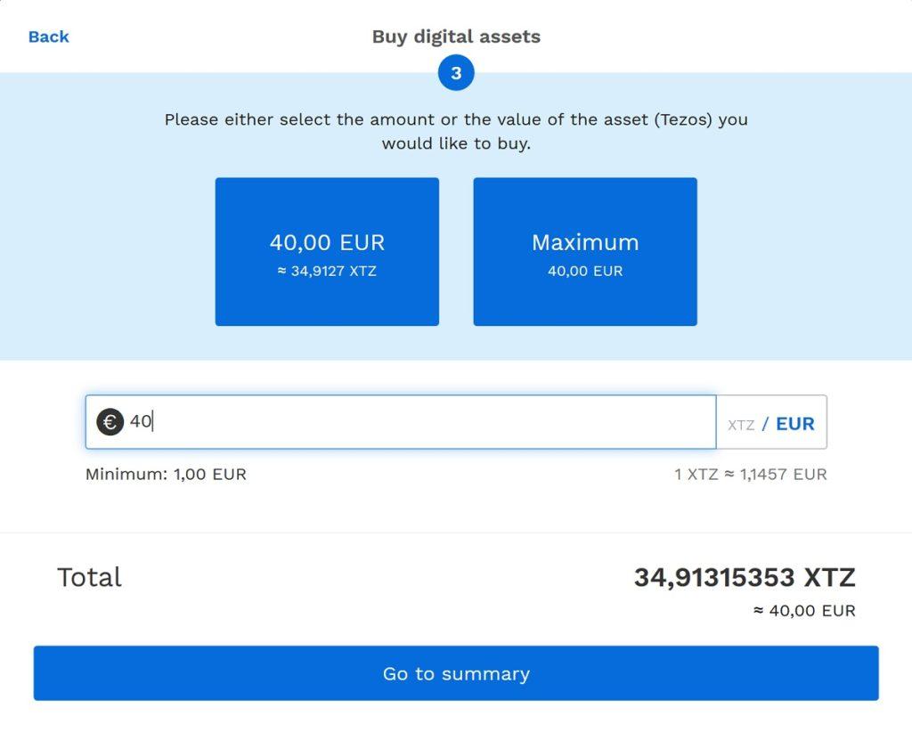 Tezos Coins kaufen