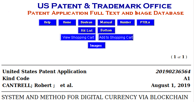 Walmart Coin Cryptocurrency Patent