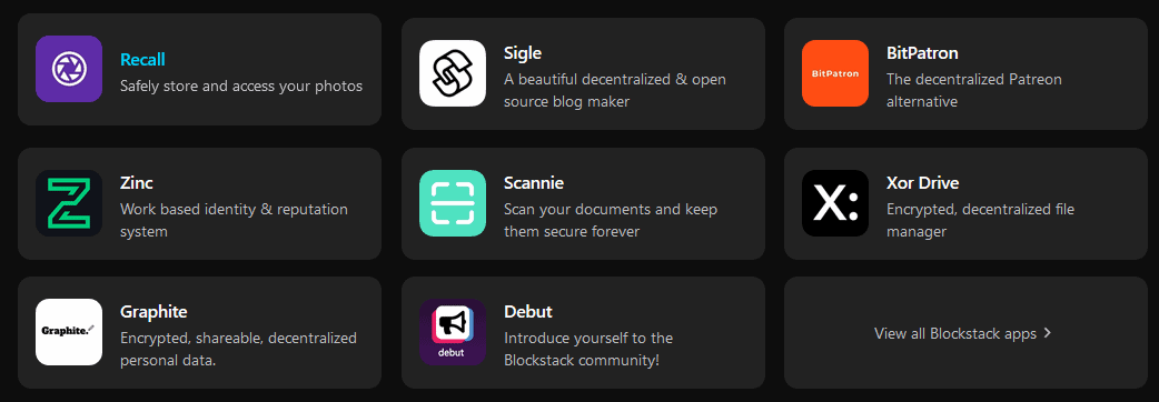 Blockstack Apps