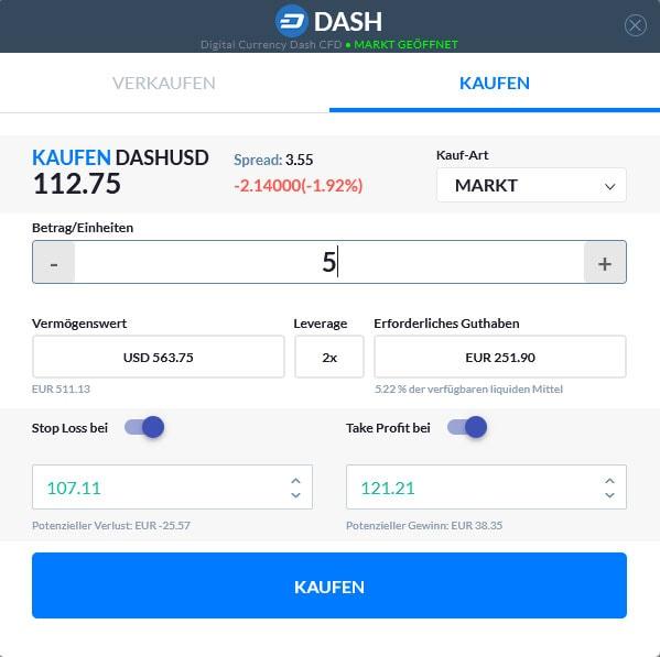 DASH Einheiten kaufen