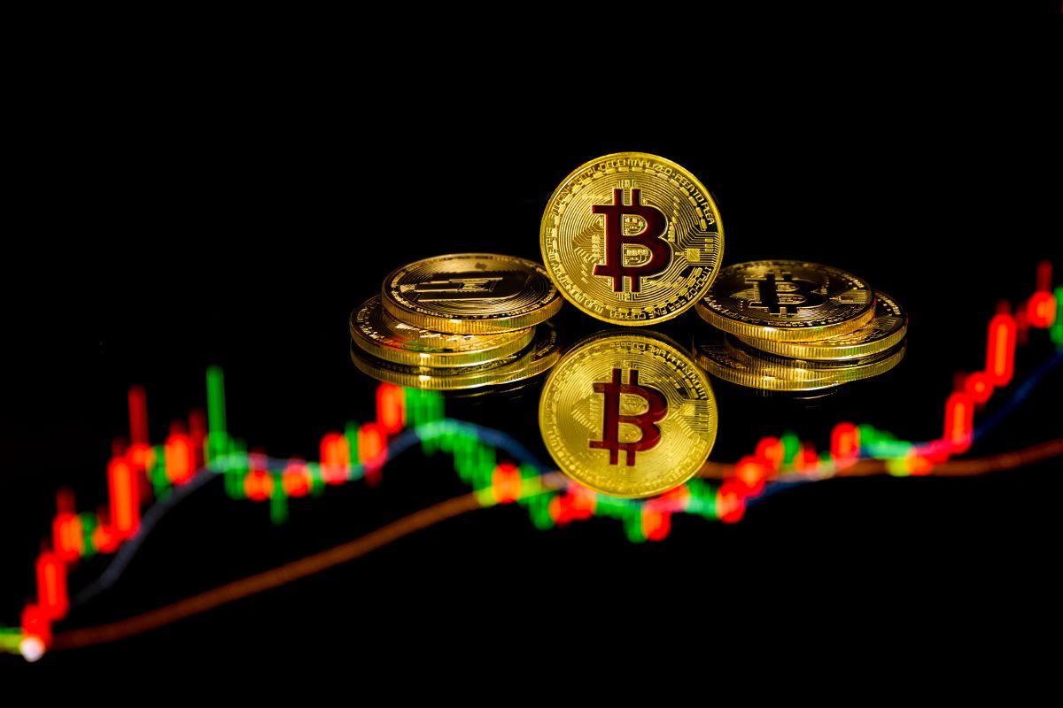 Ein wechselhafter Bitcoin-Chart