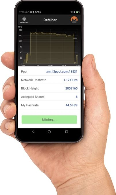DeMiner App Mockup