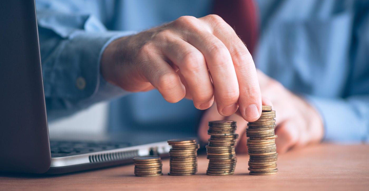 Bitcoin Sparplan und Geld zählen