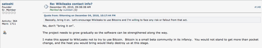 Satoshi Forum Kommentar