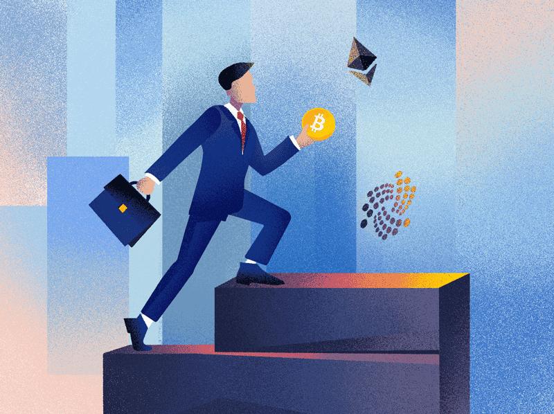 Kryptowährungen handeln über einen Broker