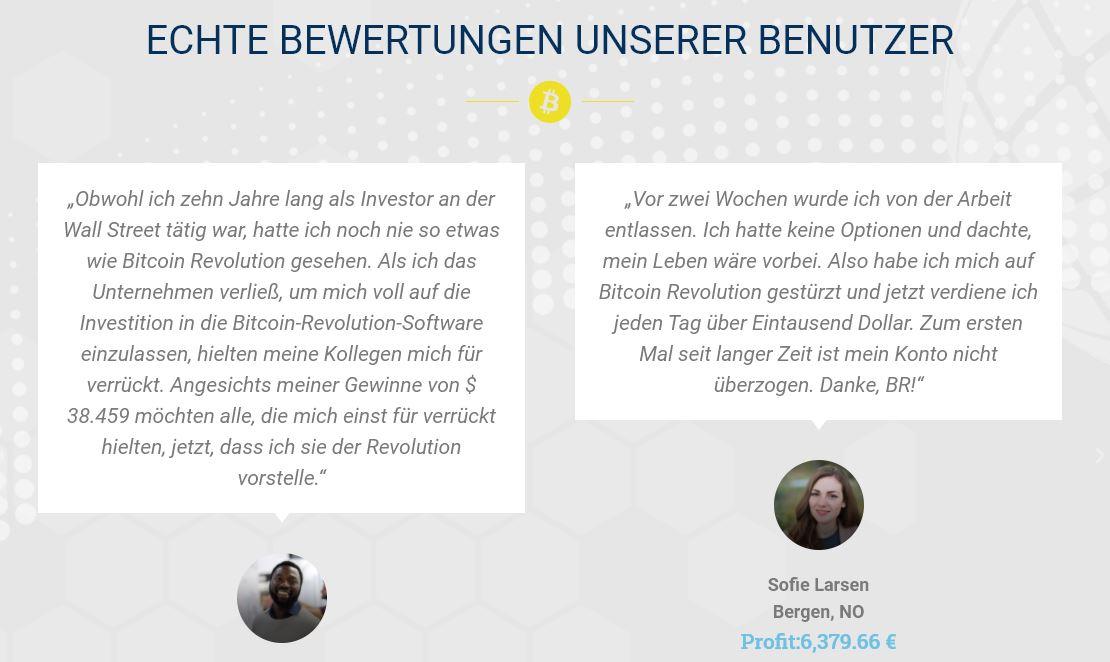 Bitcoin Revolution Bewertungen
