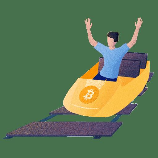 Bitcoin Achterbahn