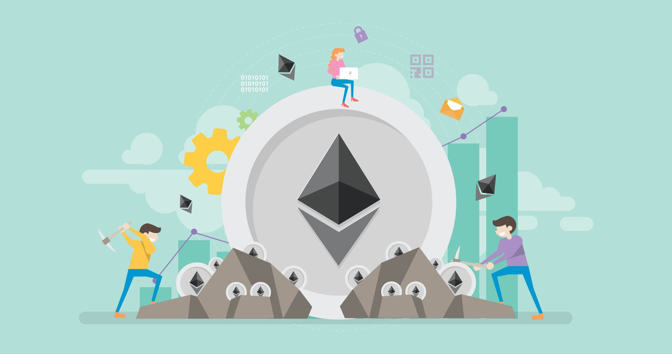 ETH Mining Illustration