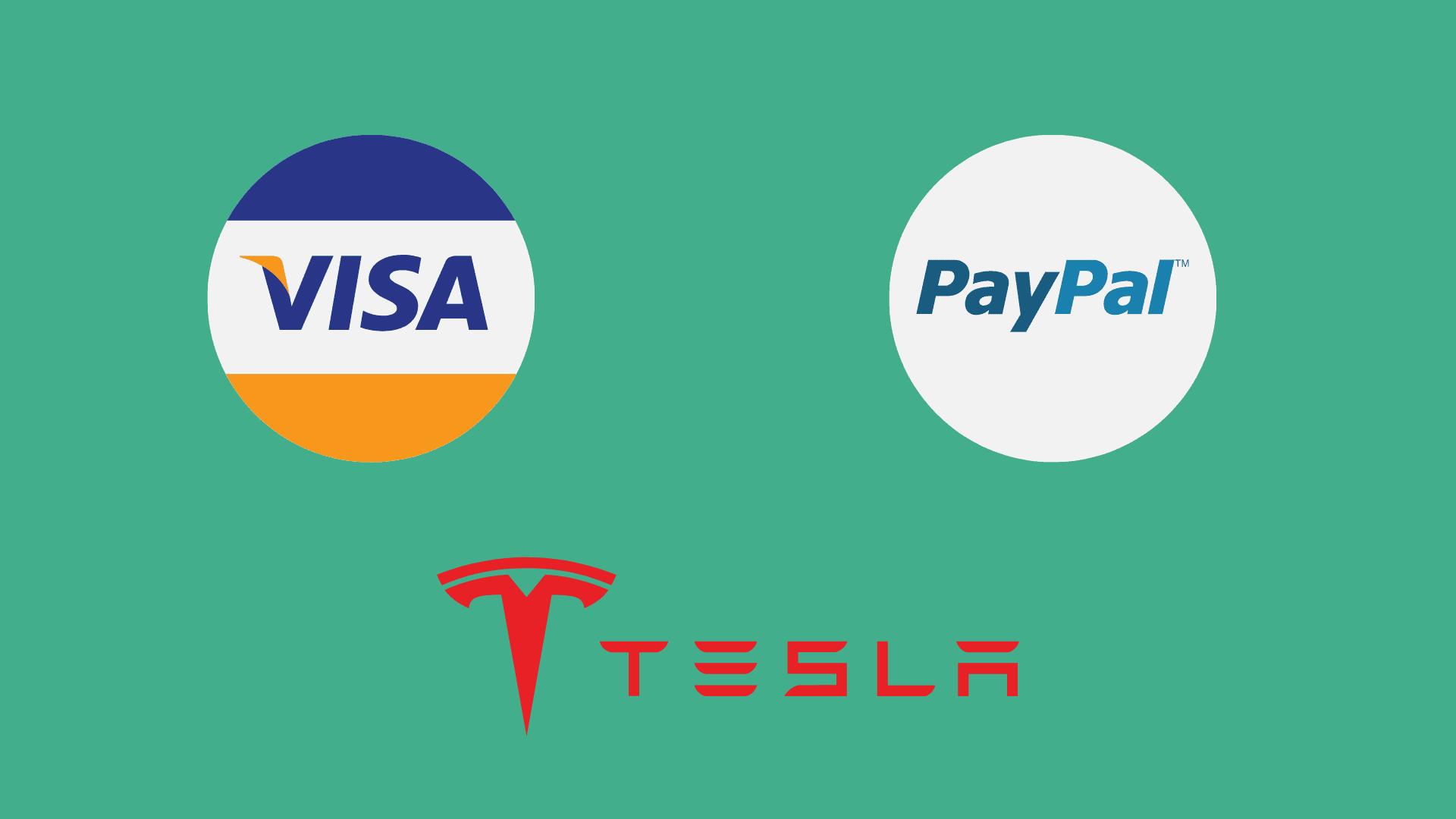 VISA PayPal TESLA